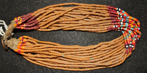 Royal Naga Necklace : Authentic Konyak Naga Royal Bead Necklace from Beads That Are Normally in Belts or Collars. #562