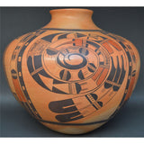 Hopi Jar, Native American, Pueblo Pottery, Southwestern Clay Pot, Polychrome Pot, Native Pot, Native American Hopi Pot, Polychrome Jar,