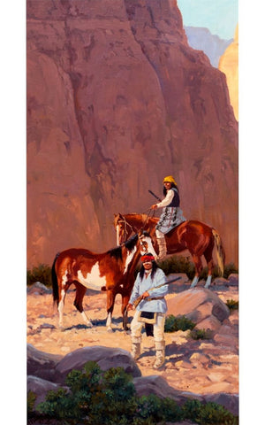 "Painting : Ron Stewart Oil Painting, Original Ron Stewart Oil, ""Canyon Shadows"" Signed Ron Stewart, Ron Stewart Western Art, Ron Stewart art, #329"