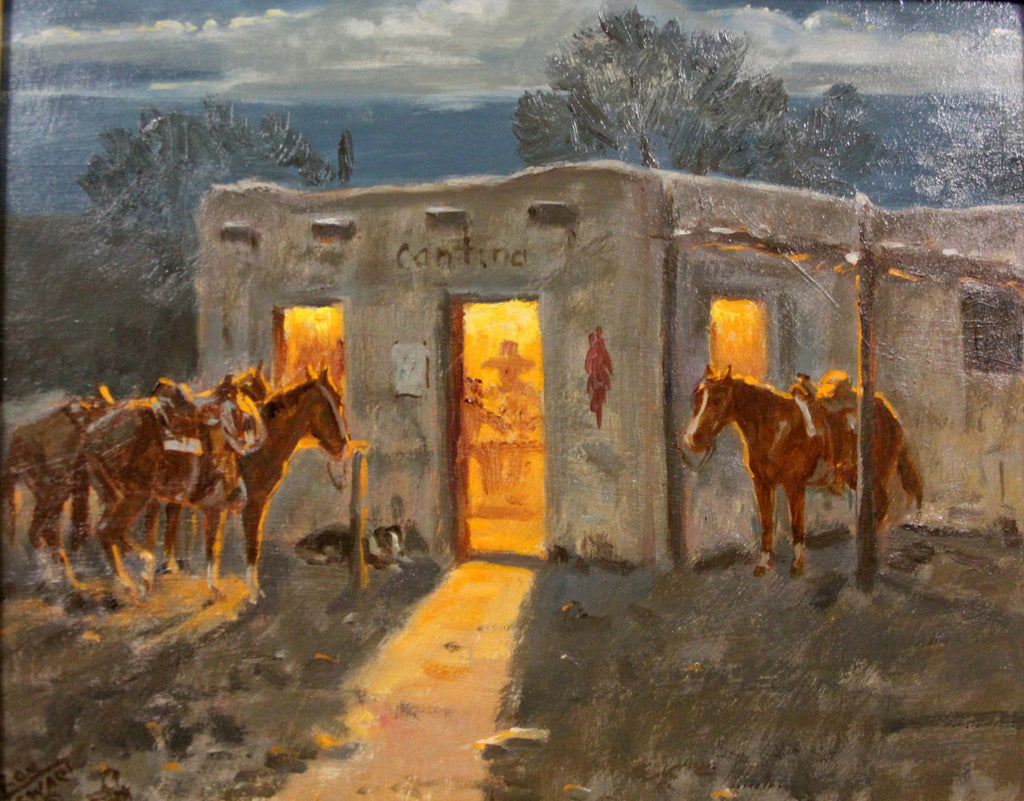 "Original Oil Painting : Ron Stewart Oil Painting, Original Ron Stewart Oil, ""Good Times"" Signed Ron Stewart Western Art, Ron Stewart"