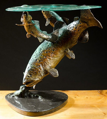 "Bronze Sculpture : Original Limited Edition Bronze Sculpture Entitled the ""Hatch"", by George Northup (Wyoming, B.1940), #682"