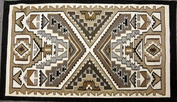 native american indian weaving teec nos pos rug in two gray hills col. Black Bedroom Furniture Sets. Home Design Ideas