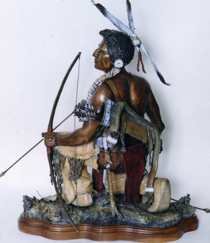 "Bronze Sculpture, ""Guardian Of the Trail"", Limited Edition of 75, By James Regimbalm Made to Order #997"
