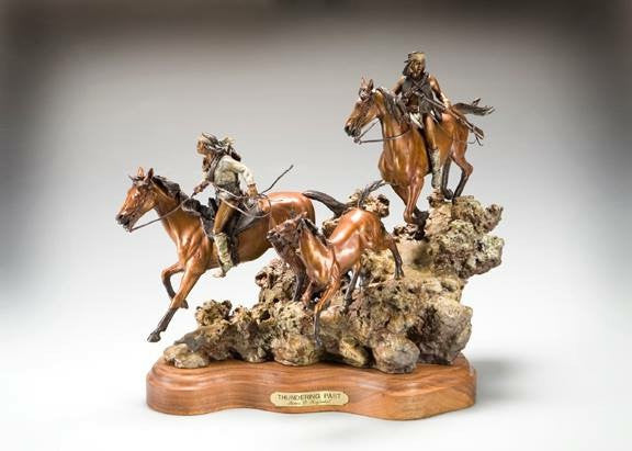 "Bronze Sculpture, ""Thundering Past"", limited edition of 65, by James Regimbal, Limited Edition, Made to Order #992"