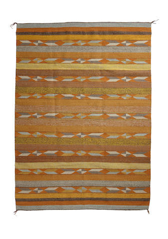 Native American, Large Navajo Crystal Rug/Weaving, by Mary Johnson, Ca 1970's Sold