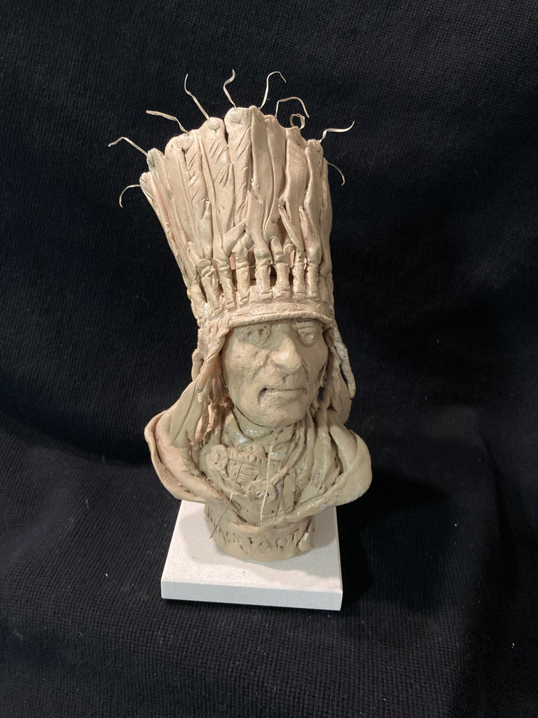 "James Regimbal's, Rare and Original Clay Models- ""Blackfoot"" #C 1627"