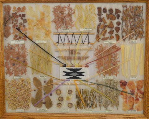Vintage Native American Navajo Wool Dye Chart, Ca 1980's-1990's, #1579 Reserve for Larry