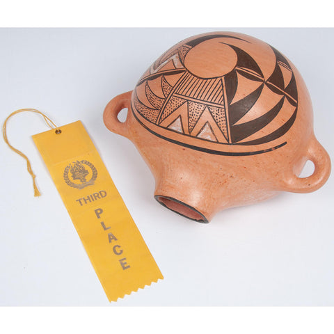 Native American, Betty Nevakuku (Hopi, 20th Century) Award Winning Pottery Canteen CA 1986, #1691