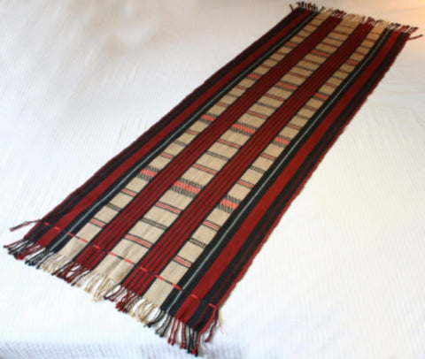 Naga Tribal Textile Table Runner from Nagaland in Myanmar, Ca 2000, #1527