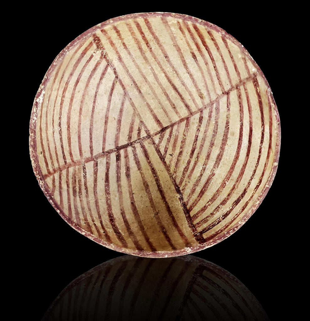Pre-Historic Polychrome Pottery Bowl, Ca. 1100 AD, # 1525