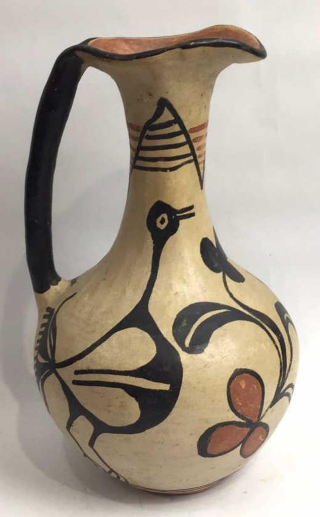 Native American Vintage Santa Domingo/Kewa Pottery Water Vessel, Ca 1930'-40's, # 1533