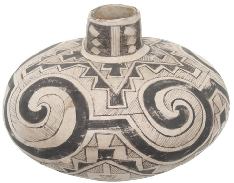 Ancestral Pueblo, Tularosa, Black-on-White Pottery Olla, Ca 1150-1300 CE, #1661