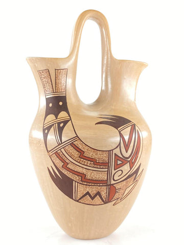 Native American Vintage Hopi Tewa Wedding Vase with Rainbirds, by Dawn Navasie, Ca 1990's, #1548