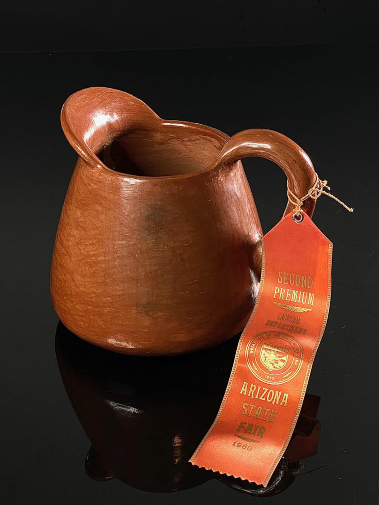 Native American San Ildefonso Pottery Pitcher, Attributed to Rose Gonzales, Ca 1960, #1581