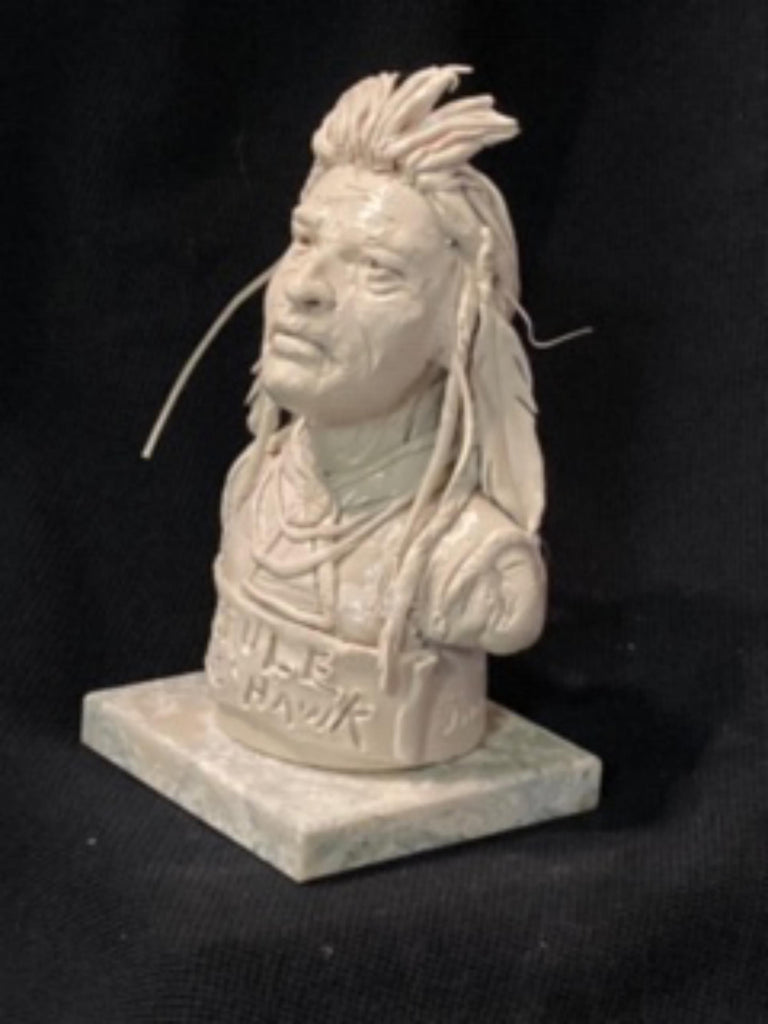 "James Regimbal's, ""Rare and Original Clay Models- Brule-Little Hawk"" #C 1591"