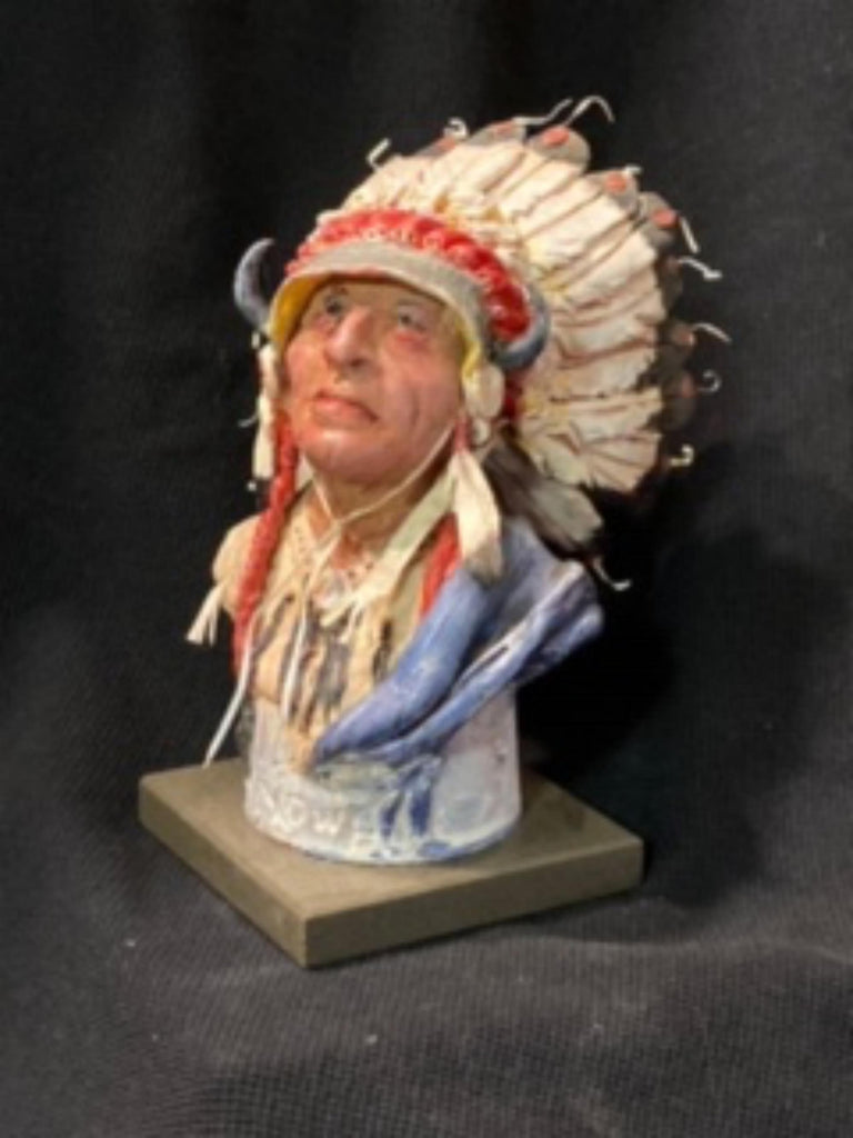 "James Regimbal's, ""Rare and Original Clay Models- Kiowa Chief"" #C 1592."