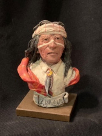 "James Regimbal's, ""Rare and Original Clay Models- Apache"" #C 1593."