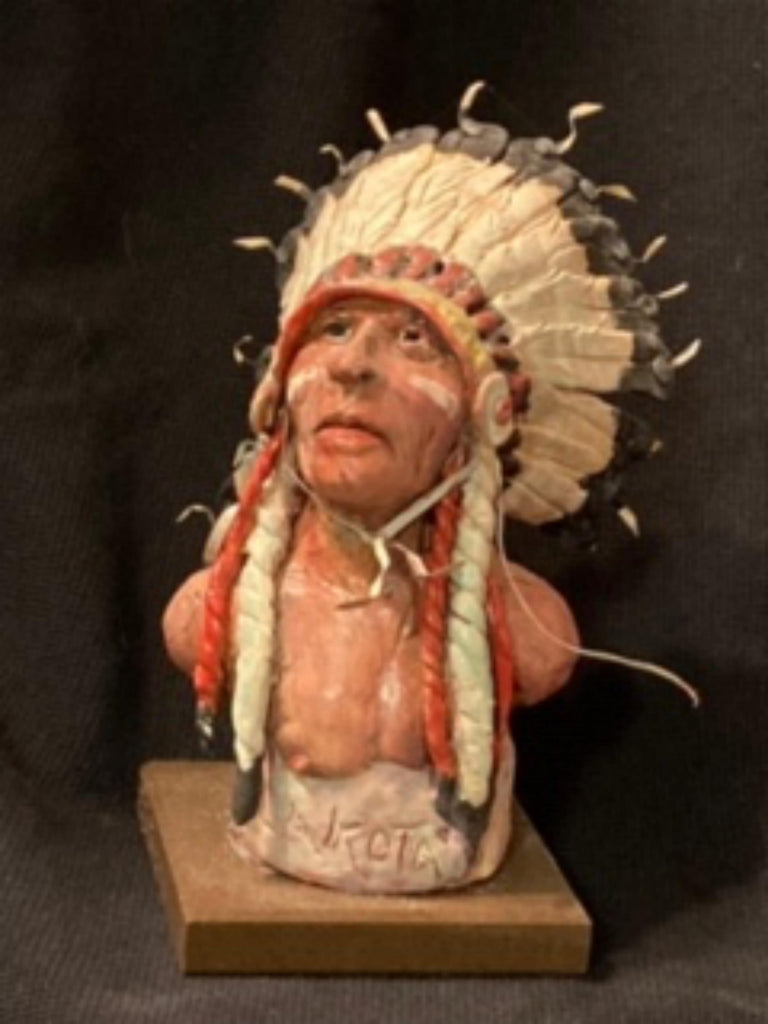 "James Regimbal's, ""Rare and Original Clay Models- Lakota Chief"" #C 1595"