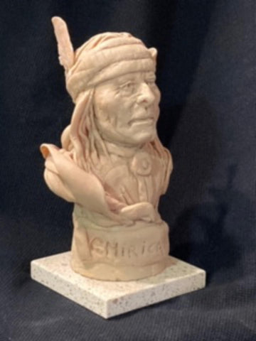 "James Regimbal's, ""Rare and Original Clay Models- Chiricahua"" #C 1597"