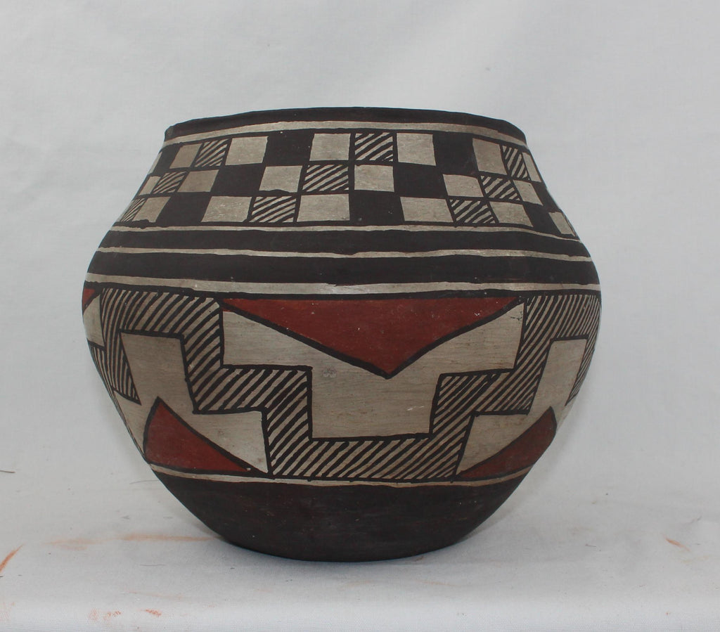 Native America, Historic Laguna Polychrome Pottery Jar, Ca 1890-1920's, #1574