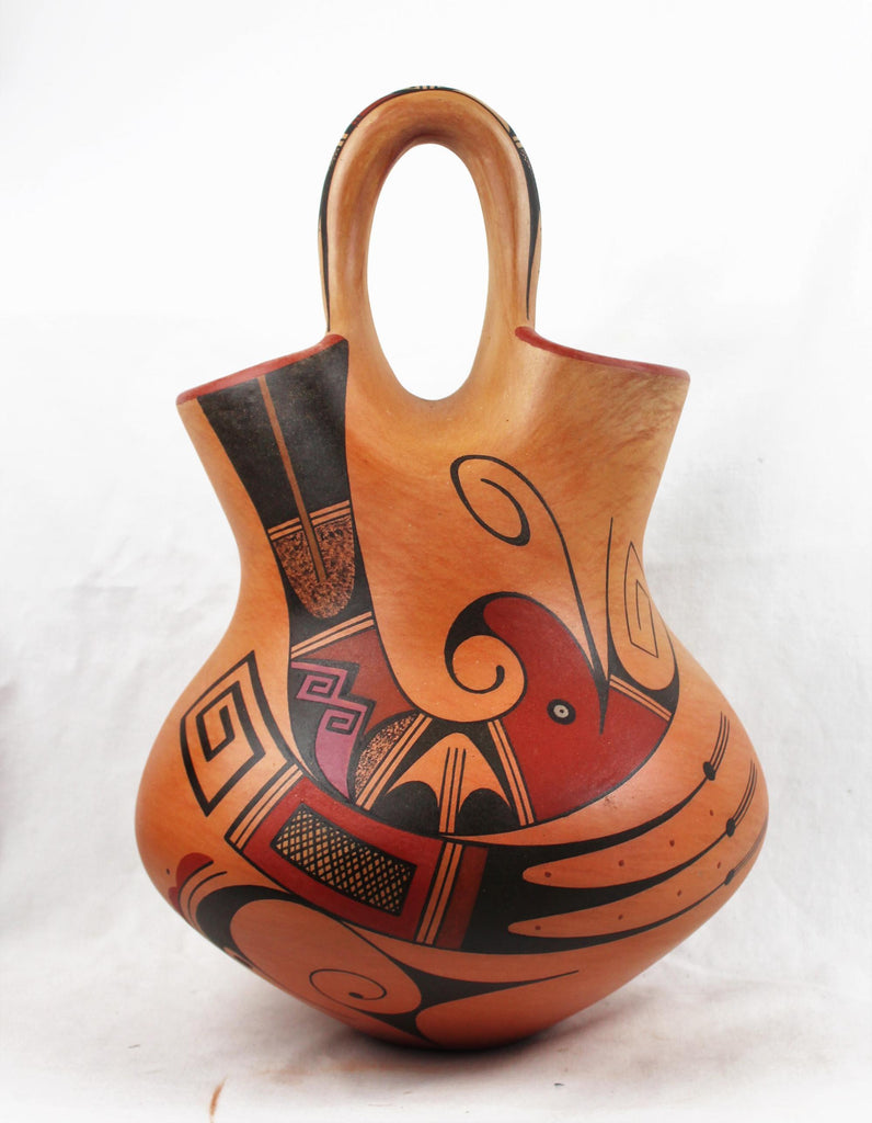 Native American, Extraordinary, Hopi Polychrome Wedding Vase by Stetson Setalla, #1563 Sold