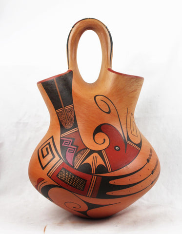 Native American, Extraordinary, Hopi Polychrome Wedding Vase by Stetson Setalla, #1563