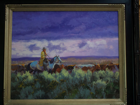 "Contemporary Western Art, ""Sea of Sage"", by Kelly Donovan # C 1587"
