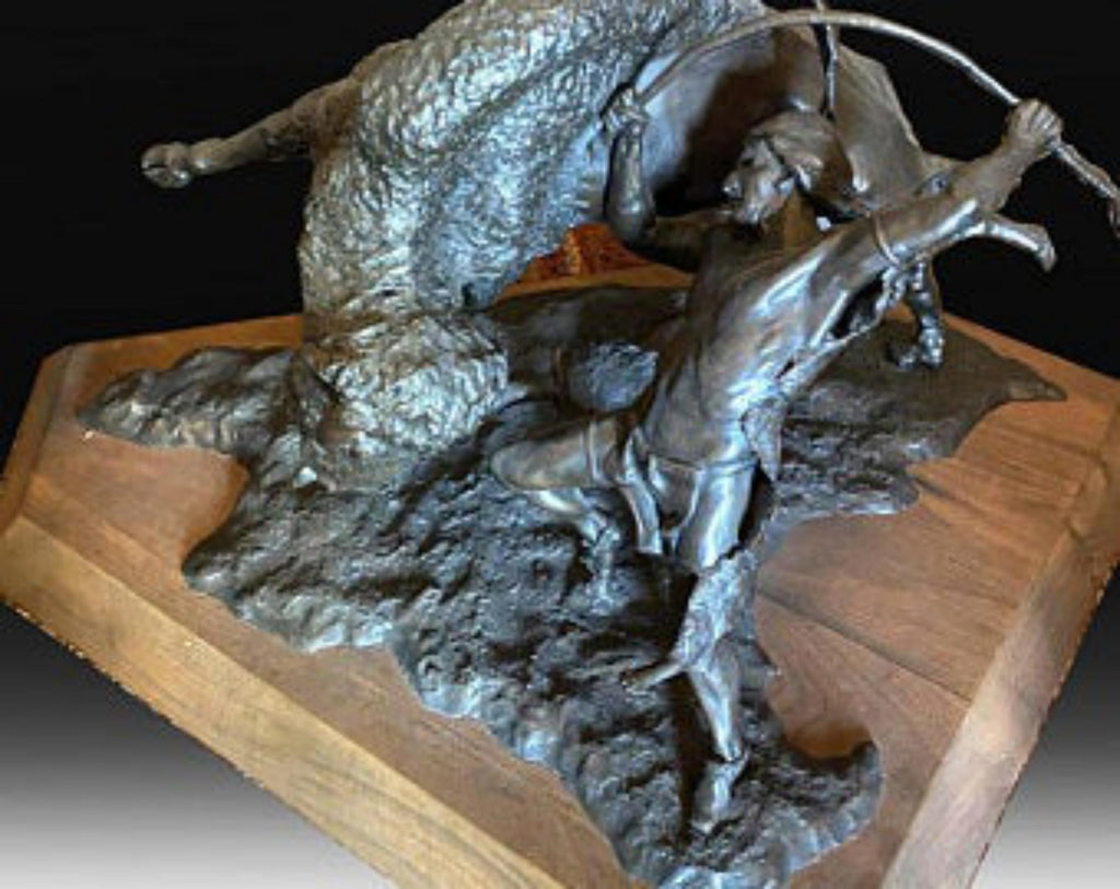 "Western Bronze Sculpture, ""Before the Horse "" , by Jeff Wolf, Limited Edition of 6/25, 1988, #C 1562"