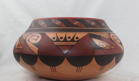 Native American, Extraordinary, Hopi Polychrome Bowl by Stetson Setalla, #1564