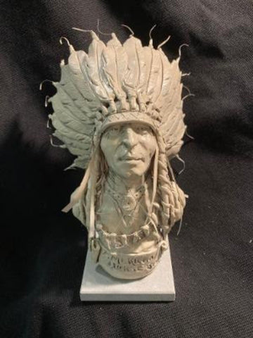 "James Regimbal's Rare and Original Clay Models, ""American Horse Sioux"", C 1676"