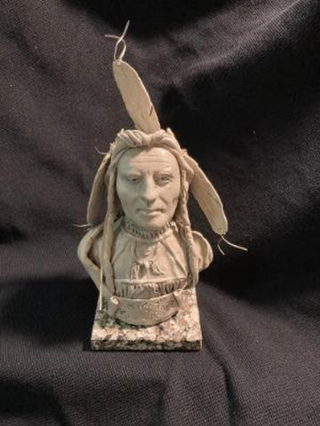 "James Regimbal's Rare and Original Clay Models, ""Big Tree Kiowa"", C 1665"