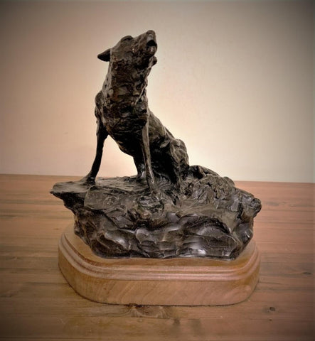 "Western Bronze Sculpture, ""Winter Song"" by Jeff Wolf, Limited Edition 3 of 60, 1998, #C 1643"