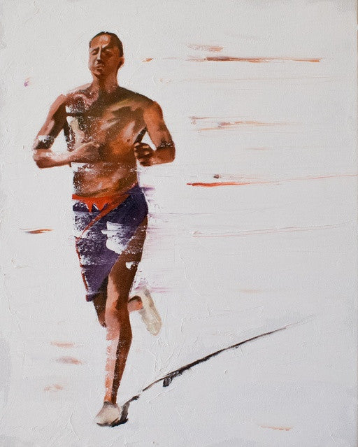 "Native American, Oil on Canvas, Titled ""Stamina"" From the Vanishing Series, By Del Curfman, #1168"