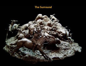 "Copy of Western Bronze Sculpture, by Renowned Western Artist Jeff Wolf, Entitled ""Surround"", Limited Edition, Pre Cast, 1 of 10, #1017"