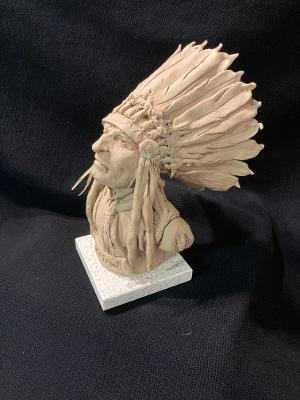 "ames Regimbal's, ""Rare and Original Clay Models- ""Choctaw"" #C 1616"