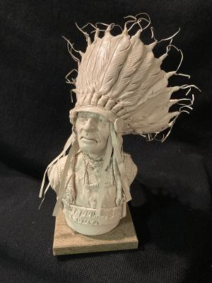"James Regimbal's, ""Rare and Original Clay Models- ""Ponca Standing Bear"" #C 1618"