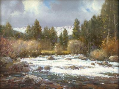 "Contemporary Oil Painting Titled, ""Aspen Stream"", by Noted Artist Steven Scott, C 1637"