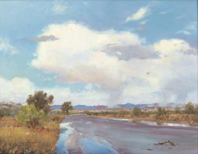 "Contemporary Oil Painting Titled, ""Arizona Rain"", by Noted Artist Steven Scott, C 1638"