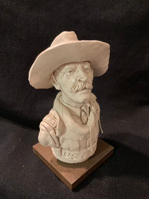 "James Regimbal's, Rare and Original Clay Models- ""U.S. Cavalry 1880"" #C 1622"