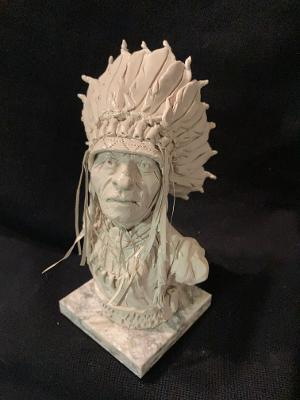 "James Regimbal's, Rare and Original Clay Models- ""Flying Hawk-Lakota"" #C 1625"