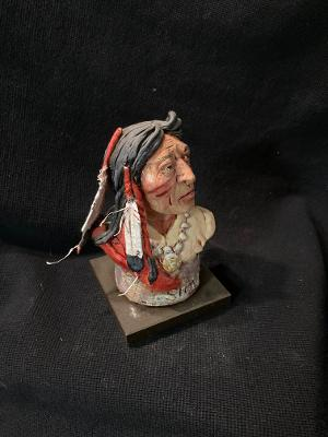 "James Regimbal's, Rare and Original Clay Models- ""Sioux"" #C 1624"