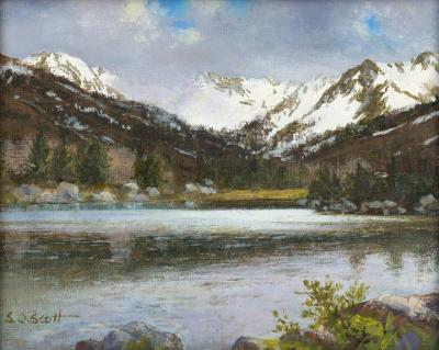 "Contemporary Oil Painting Titled, ""June Lake"", by Noted Artist Steven Scott, C 1634"