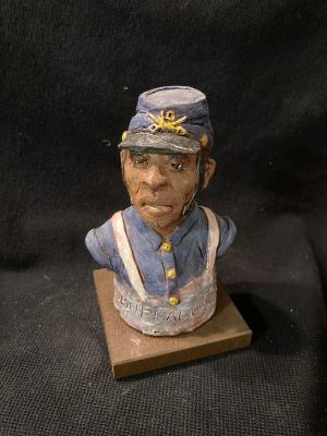 "James Regimbal's, ""Rare and Original Clay Models- ""Buffalo Soldier"" #C 1633"