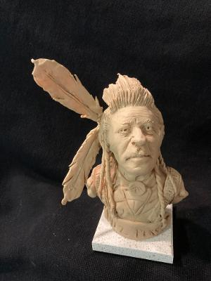 "James Regimbal's, ""Rare and Original Clay Models- ""Nez Perce"" #C 1630"
