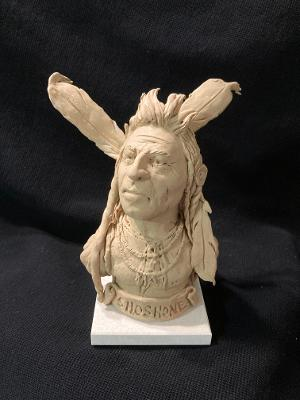 "James Regimbal's, ""Rare and Original Clay Models- ""Shoshone"" #C1614."