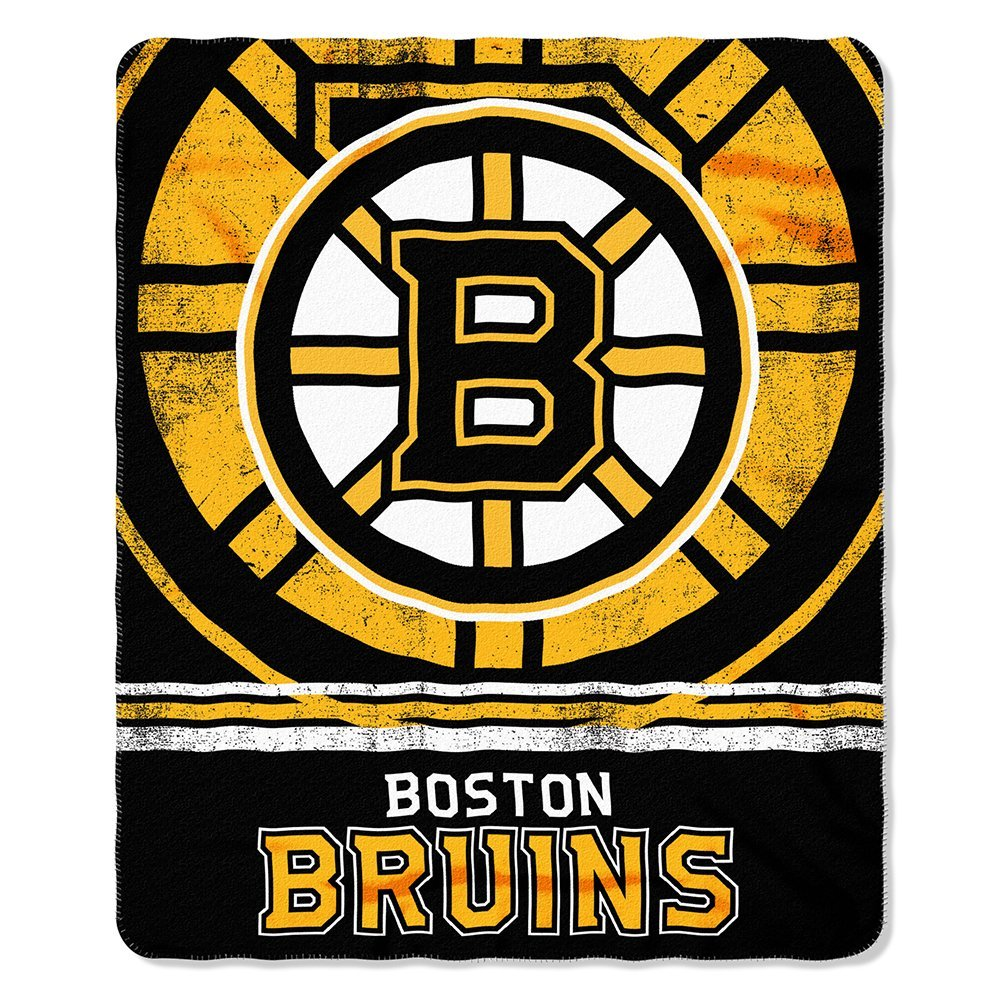 NHL Officially Licensed Boston Bruins Shadow Fleece Throw Blanket (50