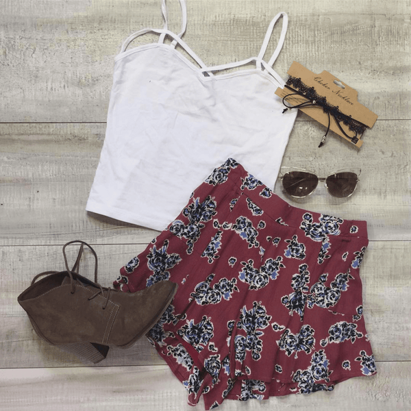 Cute flowy floral shorts