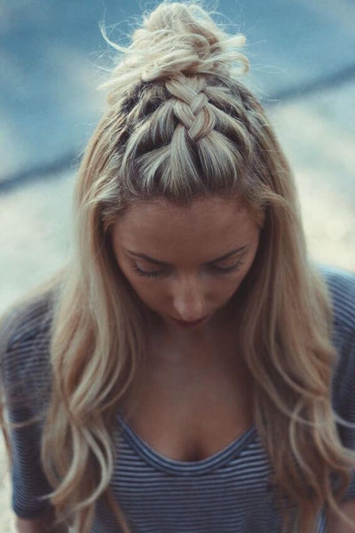 Dutch braid bun pinterest