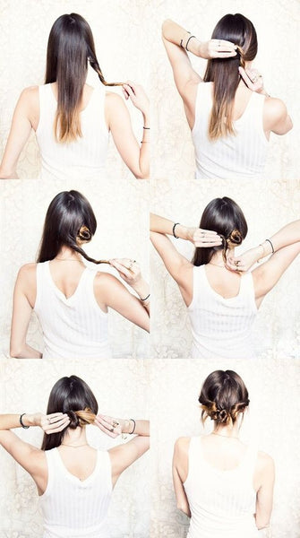 Triple bun hair pinterest