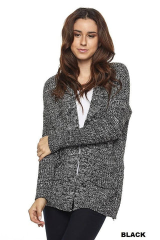 Divinity Knit Cardigan - Black